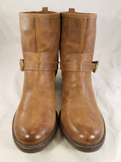 Lucky Brand Ankle Buckles Woman Size 10 Genuine Leather brown Boots Image 3