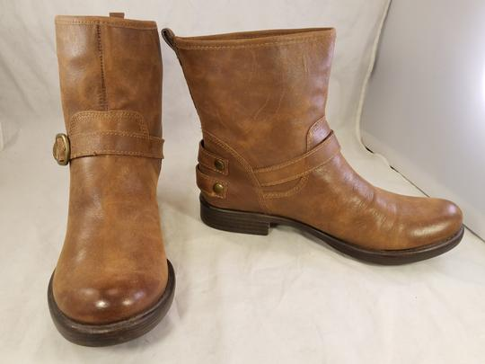 Lucky Brand Ankle Buckles Woman Size 10 Genuine Leather brown Boots Image 4