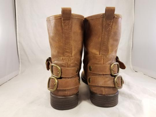 Lucky Brand Ankle Buckles Woman Size 10 Genuine Leather brown Boots Image 5