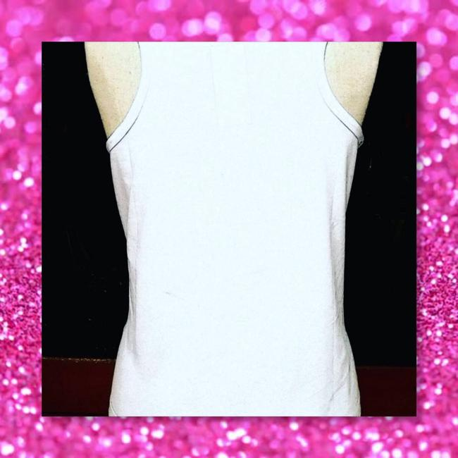 Other Racerback Novelty Animal Lover Workout Fun Top White w/Pink Letters Image 1
