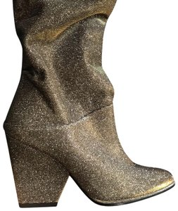 Stuart Weitzman gold and silver Boots