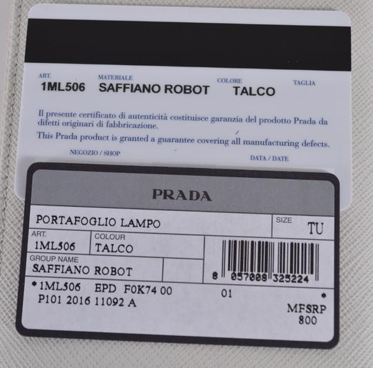 Prada New Prada 1ML506 Talco Saffiano Leather Robot Zip Around Wallet Image 6