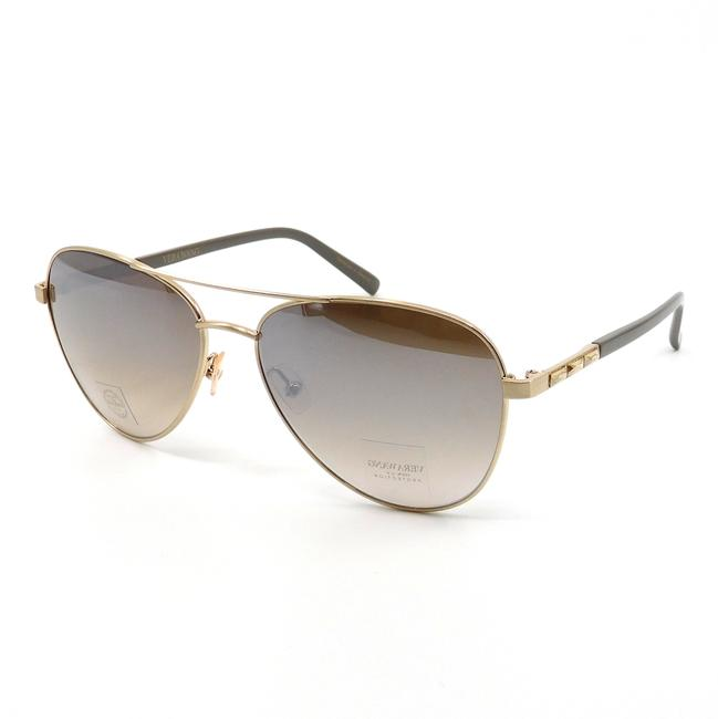 """Item - Gold & Taupe/Grey """"Ailey"""" Shadow Sunglasses"""