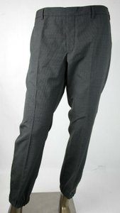 Prada Gray W Wool Stripped Dress Pants W/Button Closure Eu 52 R/Us 36 Spf66 Groomsman Gift