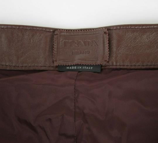 Prada Burgundy Men's Leather Pants Eu 48 R / Us 32 Upp190 Groomsman Gift Image 5