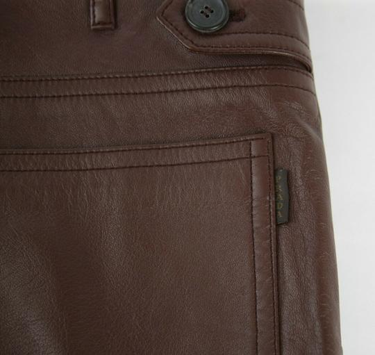 Prada Burgundy Men's Leather Pants Eu 48 R / Us 32 Upp190 Groomsman Gift Image 7