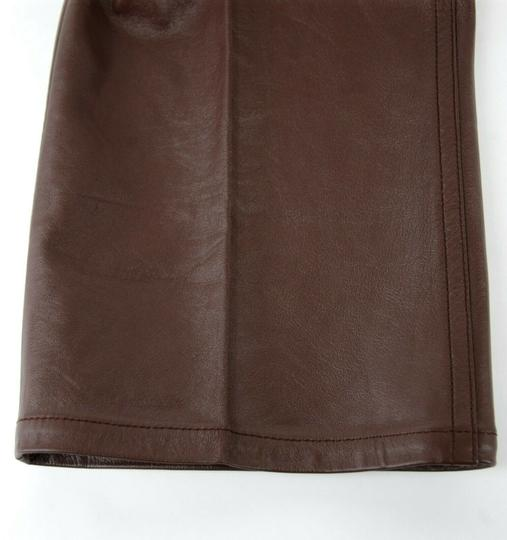 Prada Burgundy Men's Leather Pants Eu 48 R / Us 32 Upp190 Groomsman Gift Image 8