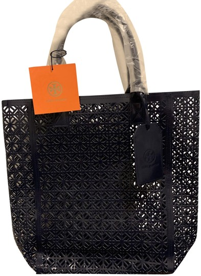 Tory Burch Limited Edition Party Patent Exclusive Blue Beach Bag Image 0