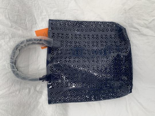 Tory Burch Limited Edition Party Patent Exclusive Blue Beach Bag Image 3