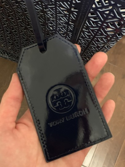 Tory Burch Limited Edition Party Patent Exclusive Blue Beach Bag Image 5