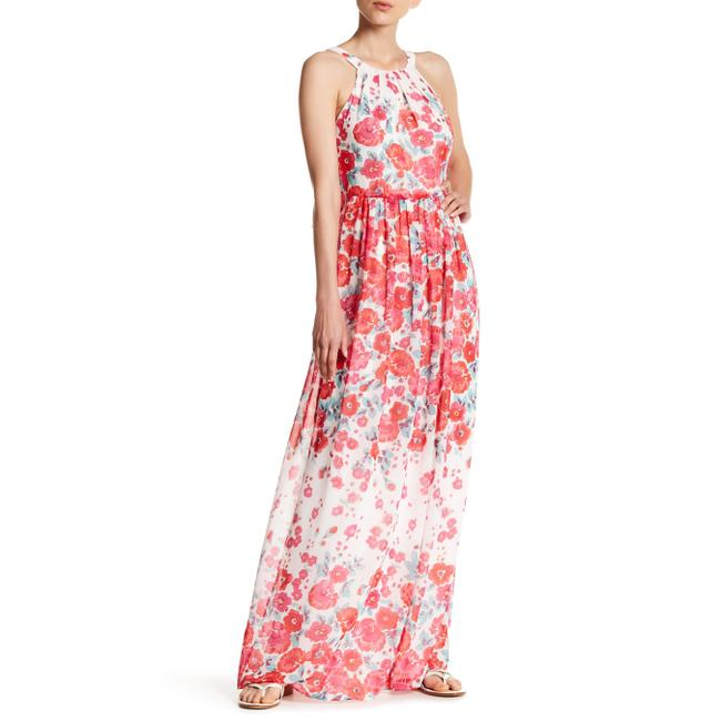 Item - Pink Floral Halter Long Casual Maxi Dress Size 4 (S)