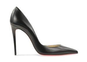 Christian Louboutin Leather Stiletto Black Pumps