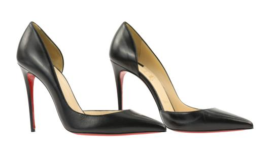 Christian Louboutin Leather Stiletto Black Pumps Image 1