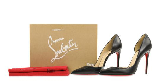 Christian Louboutin Leather Stiletto Black Pumps Image 11
