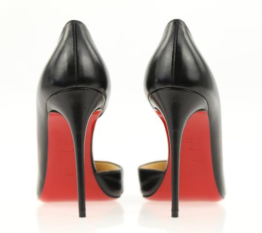 Christian Louboutin Leather Stiletto Black Pumps Image 2