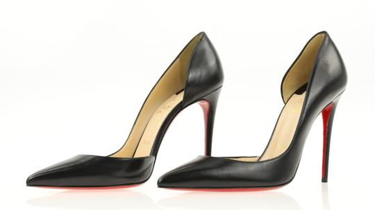 Christian Louboutin Leather Stiletto Black Pumps Image 3