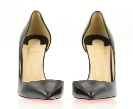 Christian Louboutin Leather Stiletto Black Pumps Image 4