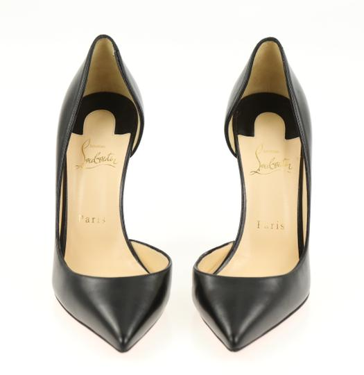Christian Louboutin Leather Stiletto Black Pumps Image 5