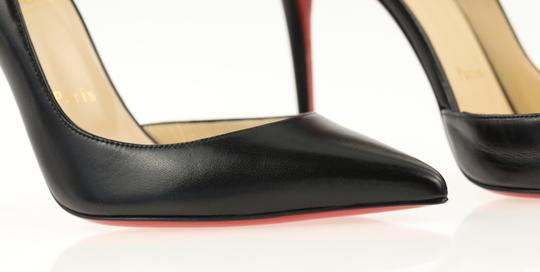 Christian Louboutin Leather Stiletto Black Pumps Image 6
