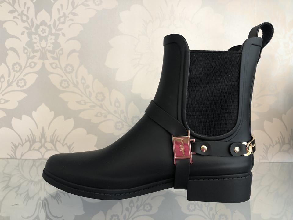 18df2162c Karl Lagerfeld Black Rubber Rain/Muck Ankle New Boots/Booties Size US 7  Regular (M, B) 33% off retail