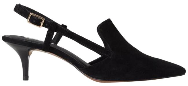 Item - Black Suede Pointed Pumps Size US 4.5 Regular (M, B)