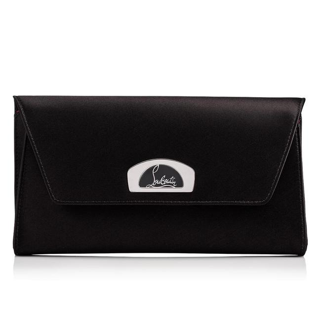 Item - Shoulder Clutch Vero Dodat Silver Chain Evening Black Satin Cross Body Bag