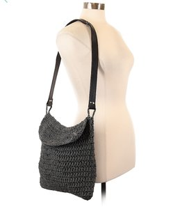 Carrie Forbes Leather Shoulder Woven Cross Body Bag