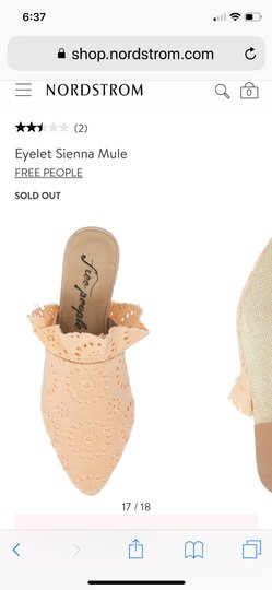 Free People peach Mules Image 1