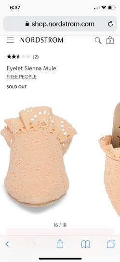 Free People peach Mules Image 2