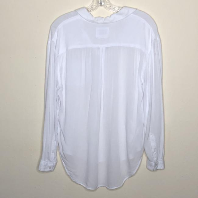 Rails Collared Popover Long Sleeve Top White Image 1