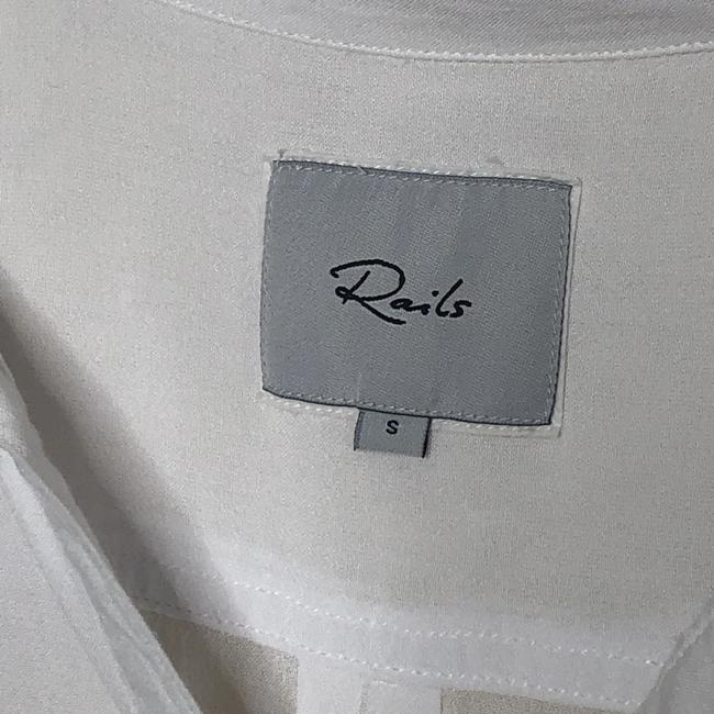 Rails Collared Popover Long Sleeve Top White Image 2