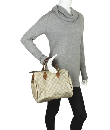 Louis Vuitton White/Blue Coated Canvas Satchel in White/Blue Image 1
