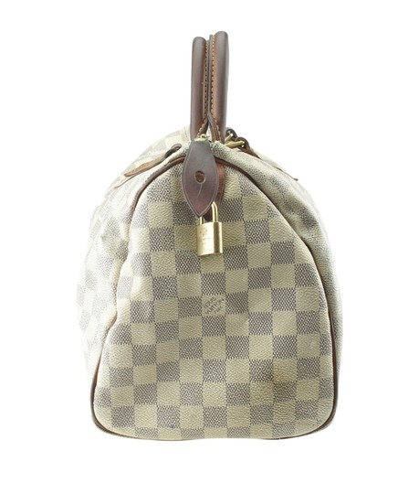 Louis Vuitton White/Blue Coated Canvas Satchel in White/Blue Image 2