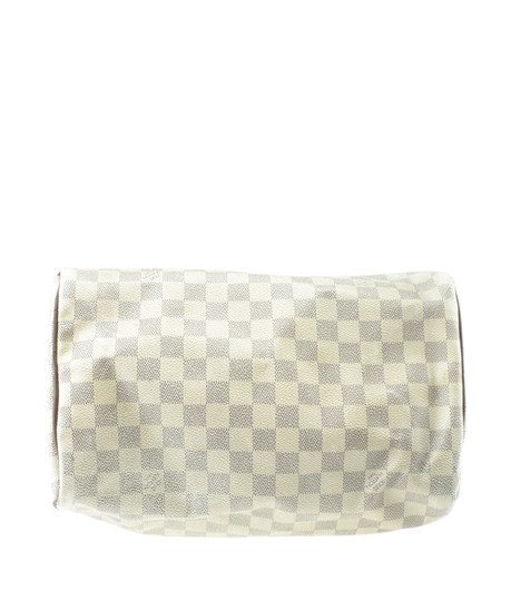 Louis Vuitton White/Blue Coated Canvas Satchel in White/Blue Image 5