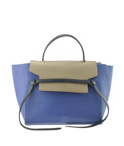 Céline Leather Tote in BrownxBlue