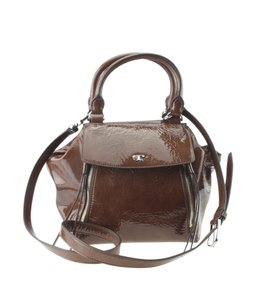 Tory Burch Patent Leather Satchel in Brown