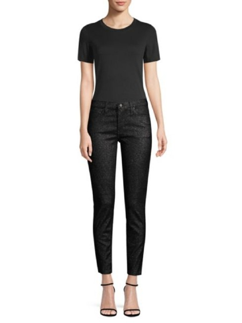 Item - Black Stellar Nico Mid Rise Ankle Super In Silver Skinny Jeans Size 29 (6, M)