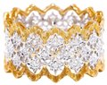 Other Wide Diamond Eternity Ring Two Tone Gold Estate Wedding Band