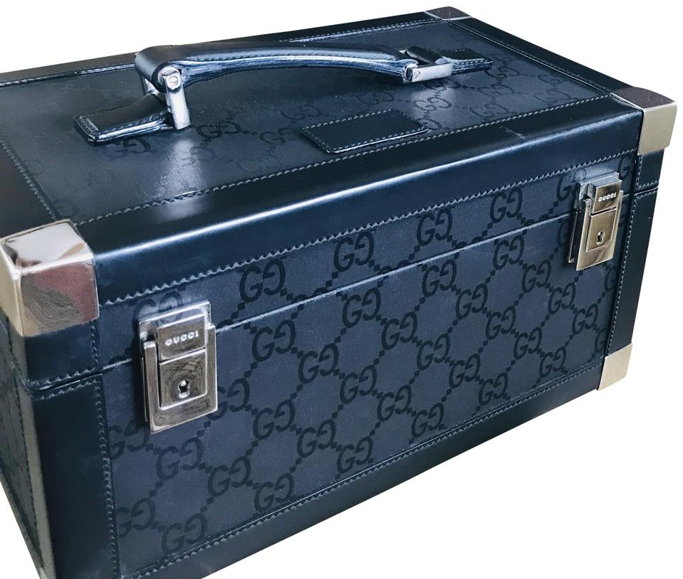 Gucci Train Case Black Leather Weekend Travel Bag 76 Off Retail
