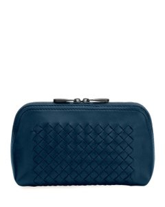Bottega Veneta Leather Italian Blue Travel Bag