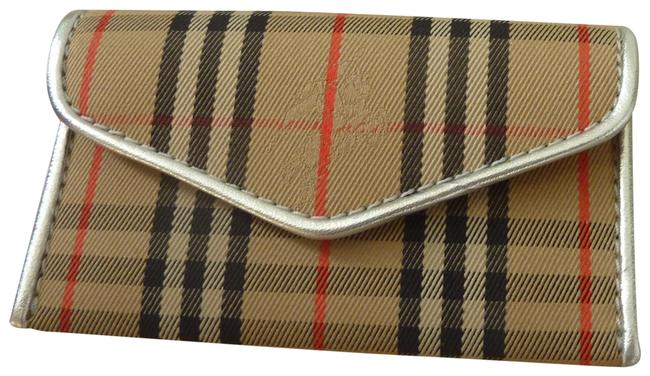 Item - Silver/Multi '1983' Check Small Envelope Card Case Wallet