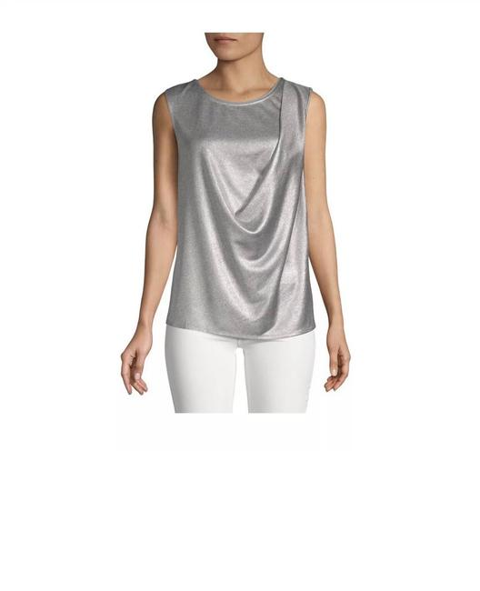 Item - Silver H. Sleeveless Draped Front Blouse Size 4 (S)