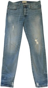 Madewell High Waist High Rise Distressed Skinny Jeans-Distressed