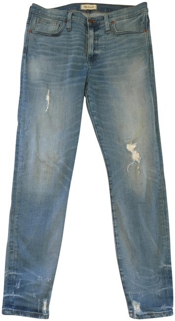 Item - Blue Distressed High Rise Skinny Jeans Size 31 (6, M)
