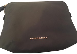 Burberry Large zip top technical nylon pouch