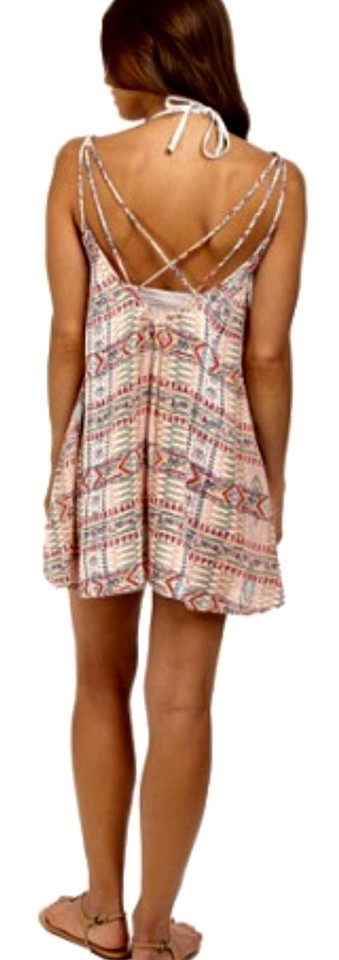 52a72f7a1f Roxy Multi Colored Womens Windy Fly Away Cover Up Short Casual Dress ...