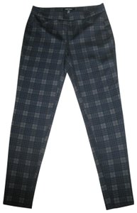 Ellen Tracy Straight Pants Tartan Plaid