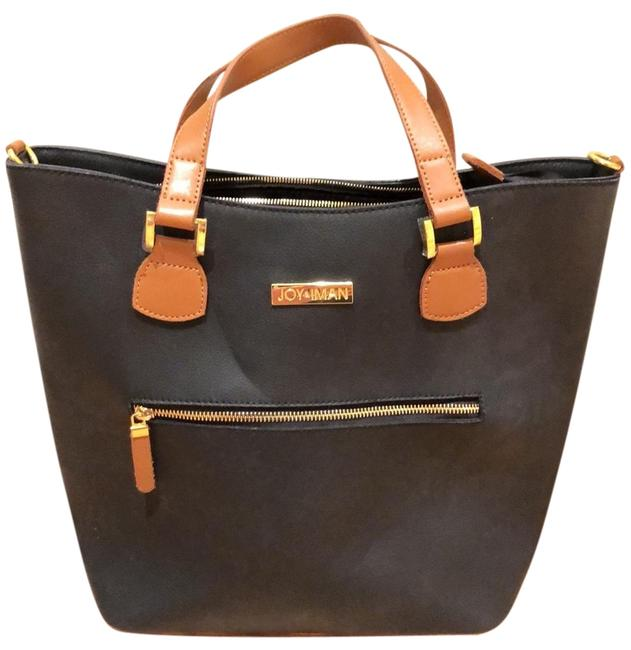 Item - Navy Leather Tote