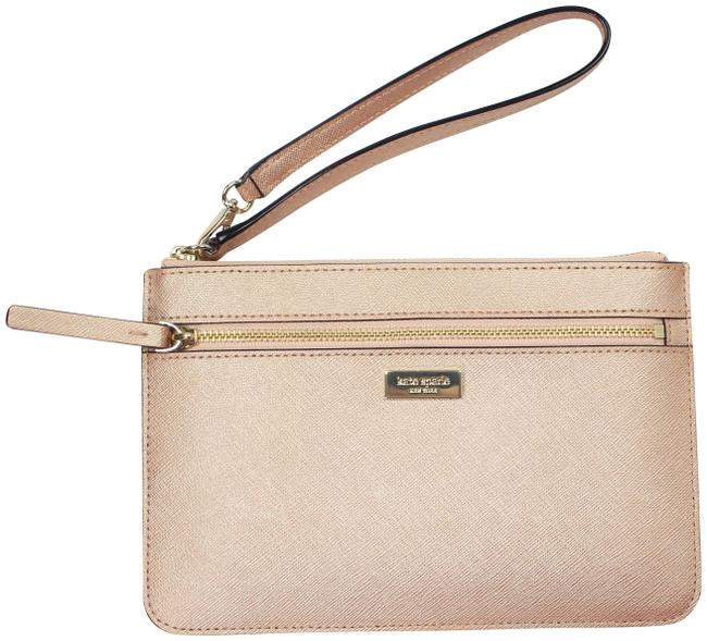 Item - Clutch Tinie Laurel Way Saffiano Handbag Rose Gold Leather Wristlet