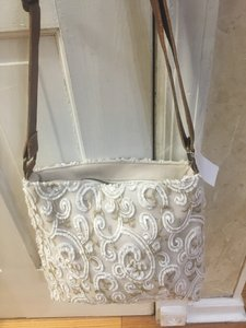David's Bridal White & Cream Bridal Handbag